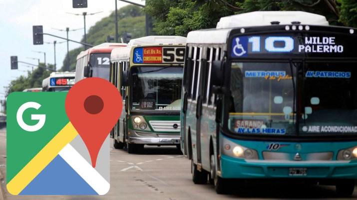 Google Maps colectivo tiempo real
