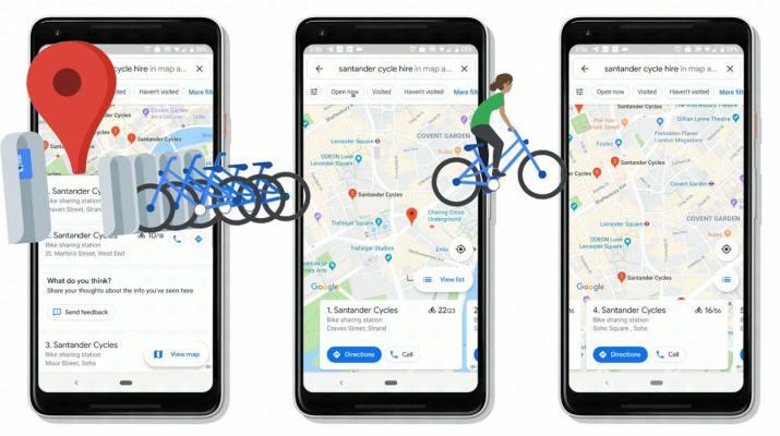 Bicicletas Google Maps