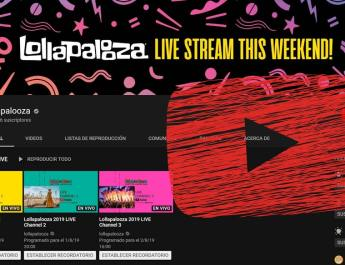 YouTube Lollapalooza 2019
