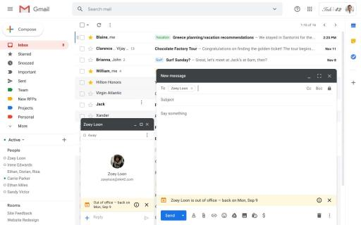 Fuera de la oficina Gmail