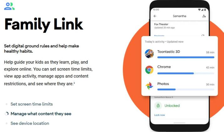 Family Link Android 10