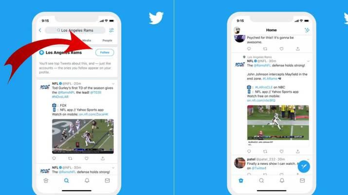 Seguir Temas Twitter