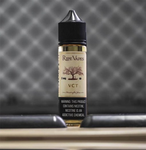 VCT Ripe Vapes Vanilla Custard Tobacco e-JuiceVCT Ripe Vapes is sure to leave you desiring more. Sweet and sexy vanilla custard up front, with a rich finish tasting of fine tobacco and a hint of toasted almond. Aimed to please the novice or the distinguished vaper.When you inhale VCT ejuice, that rich vanilla custard flavor washes over the palate. This custard is creamier and smoother than any other custard flavor out there. Then, on the exhale, a nice and smooth satisfying caramel tobacco flavor completes this spectacular vape tasting experience.VCT vape juice is a decadent tobacco flavor that blends Virginia's finest crops with smooth, creamy vanilla. This flavor is one of the best-selling vape juices of all time thanks to its glorious taste that always hits the spot.Obsession Vape Store carries VCT by Ripe Vapes in a 60ml unicorn or dropper bottle with industry standard nicotine levels . The 75 percent vegetable glycerin (VG) and 25 percent propylene glycol (PG) base is great for blowing big clouds without giving up a solid hit to the throat ??Primary Flavors: Vanilla custard, Tobacco, AlmondBottle Sizes: 60mlNicotine Strengths: 0mg, 3mg, 6mgVG/PG: 75%VG / 25%PGمزيج من التبغ ( توباكو) مع الفانيليا والكاستردمن أشهر وأكثر نكهات التبغ مبيعاً حول العالم