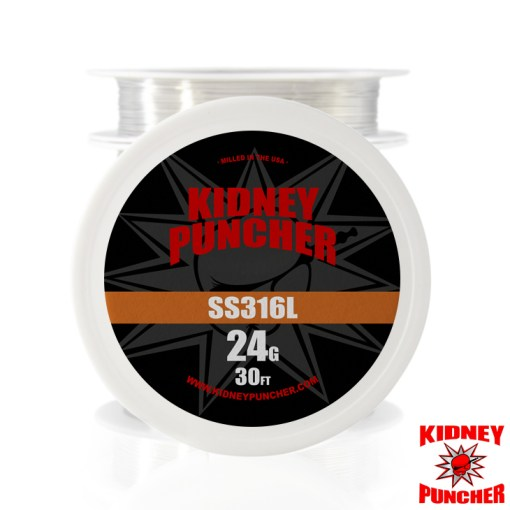 Kidney Puncher SS316L Wire 30 feet | can be used in wattage mode & temp control mode | SS316L Wire 30 feet . Made in the USA | Vape Egypt