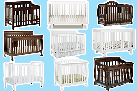 nine cribs arranged in a square