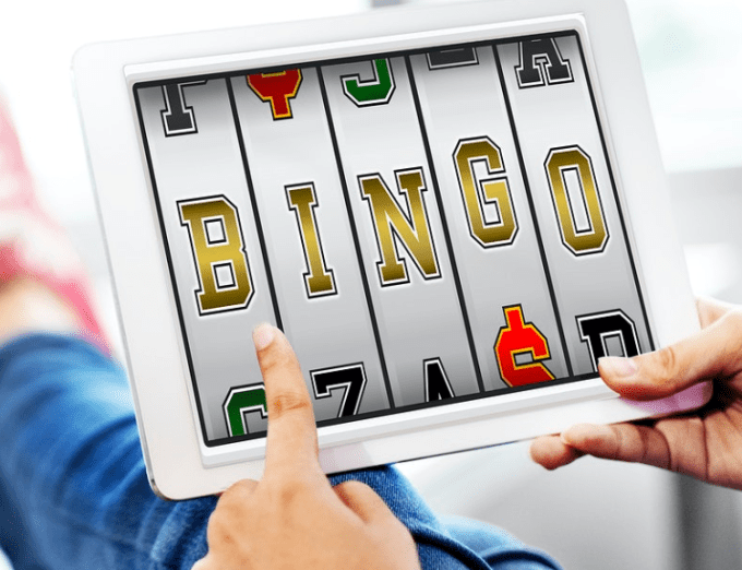 bingo on tablet screen
