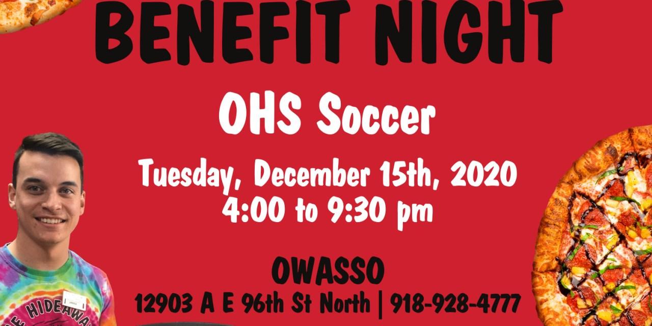 Owasso High School Soccer Benefit Night at Hideaway Pizza
