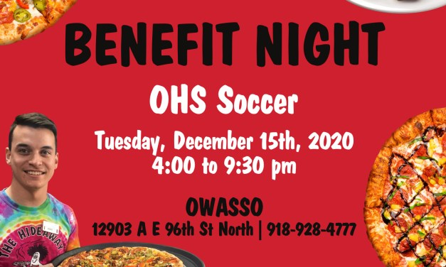 Owasso High School Soccer Benefit Night at Hideaway Pizza