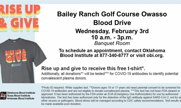 February Blood Drive Scheduled at Bailey Ranch Golf Club