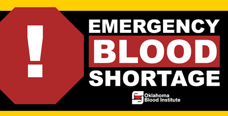 Blood Drives Scheduled for Owasso to Aid with Emergency Shortage