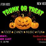 Owasso Cops for Kids Collecting Bagged Candy for Trunk or Treat Event