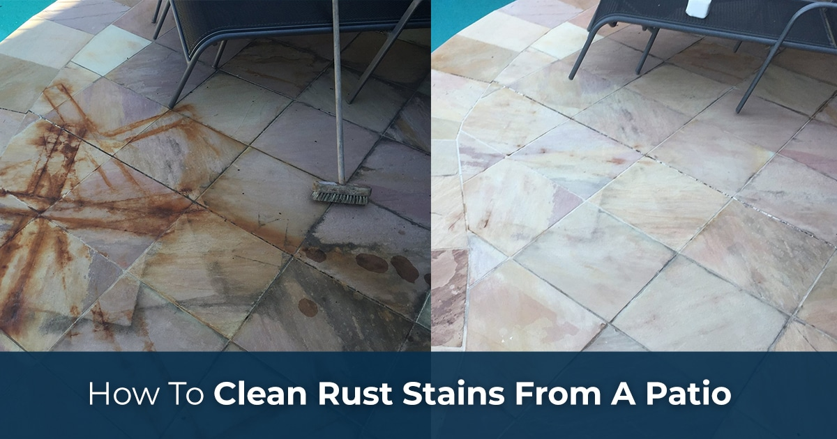 how to clean rust stains from a patio
