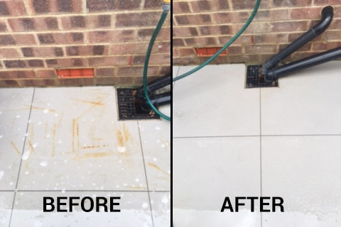 rust mark removal from porcelain tiles