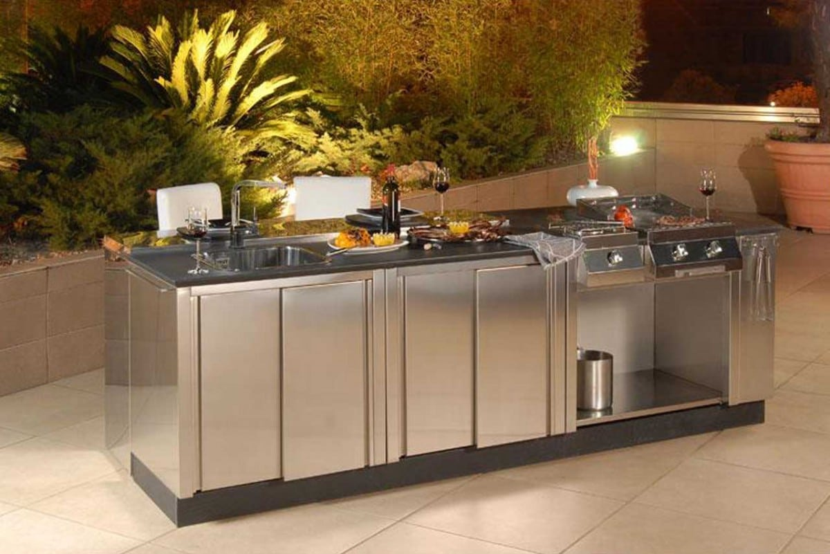 outdoor kitchen cabinets stainless steel rustic white renovations