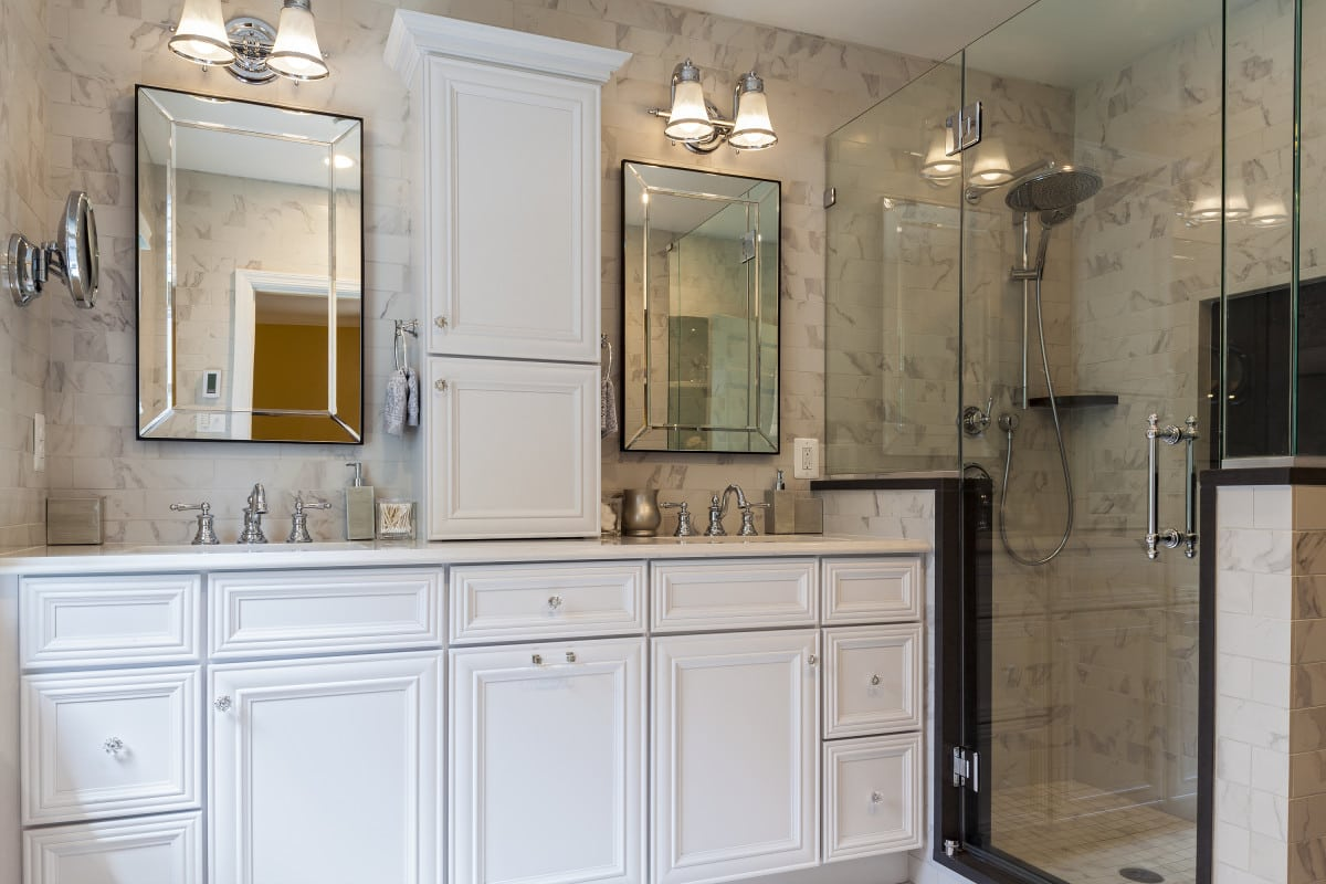 Baltimore Marble Bath Remodel  Owings Brothers Contracting