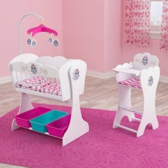 Baby Toy High Chair Set Small Lounge Chairs Owl Theme Wooden Cradle And Highchair Doll Delights