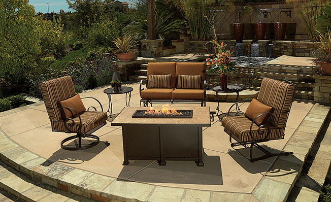 OW Lee Luxurious Outdoor Casual Furniture Fire Pits