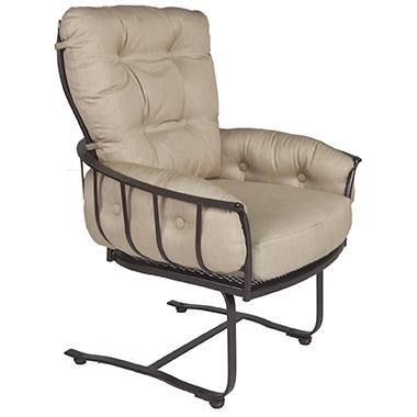 OW Lee Monterra Mini Spring Base Club Dining Arm Chair