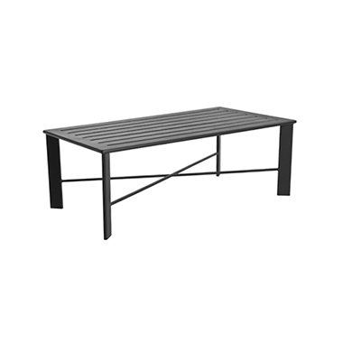 OW Lee Modern Aluminum Slatted Top Coffee Table