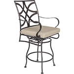 OW Lee Marquette Swivel Counter Stool With Arms
