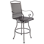 OW Lee Avalon Swivel Bar Stool With Arms