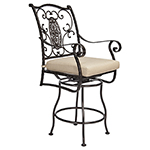 OW Lee San Cristobal Swivel Counter Stool With Arms