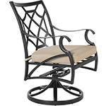OW Lee Grand Cay Swivel Rocker Dining Arm Chair