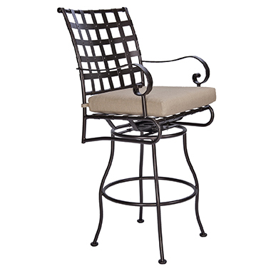 OW Lee Classico Swivel Rocker Bar Stool With Arms