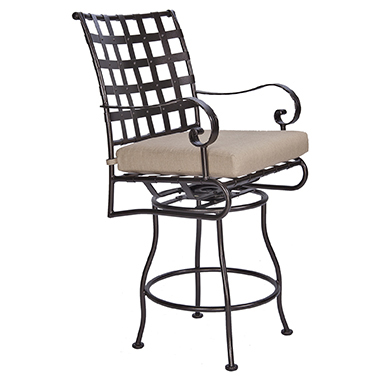 OW Lee Classico Swivel Rocker Counter Stool With Arms