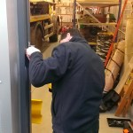 Fitting mortice bolt.
