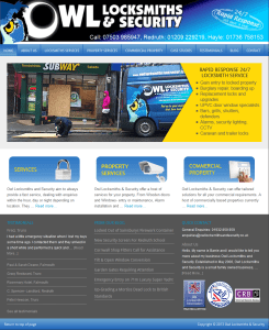 Owl Locksmiths and Security website redesign