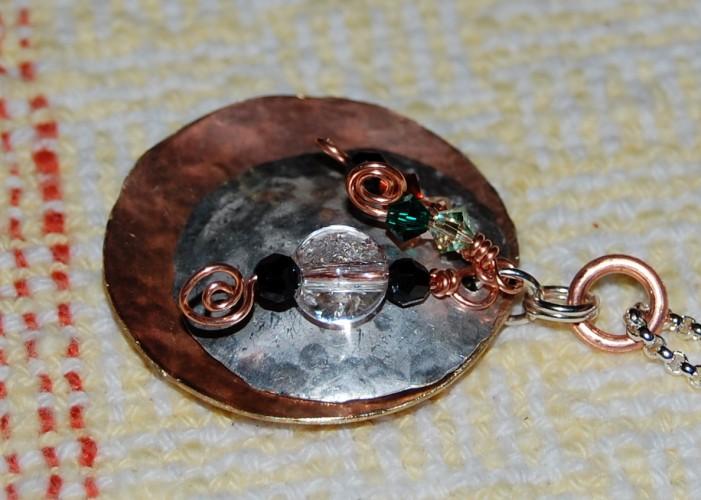 Copper & Sterling pendant