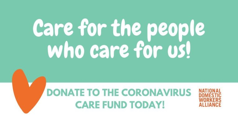 Fundraiser image for National Domestic Workers Alliance's Coronavirus Care Fund