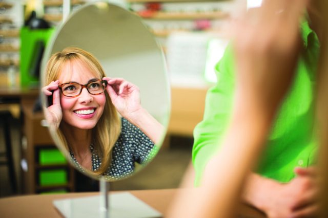 Patients visit Pearle Vision franchise locations because of convenience and style.