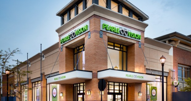 image of the exterior of a Pearle Vision on the corner of a street