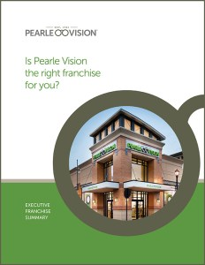 Cover of a downloadable resource containing information about owning a Pearle Vision Franchise