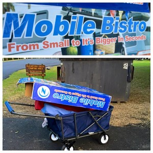 Sept. 24, 2015 Yes, I stared at that slogan for a long, long time before I was able to summon my problem solving skills, open the box, and assemble the wagon -- which I then used to haul the empty box to the dumpster. It's the circle of life, y'all. And now I have an easier way to schlep our dirty clothes to the laundry facility.