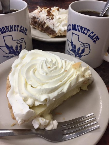 Happiness is hitting Marble Falls just in time for Pie Happy Hour. *Pie* Happy Hour, y'all. Need a minute?