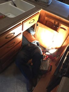 Nov. 14, 2014 Lesson 1: Even in an RV, plumbing repairs are still a thing. Leak stopped, faucet replaced.