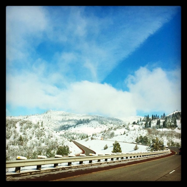 Hello snow in Oregon!
