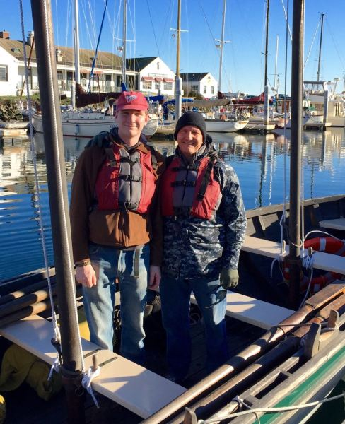 Because when your nearly 21-year-old son, who's been living on his own in WA for 2+ years, asks if you want to go boating with his Sea Scout troop, on New Year's Day, as per their annual tradition, in Port Townsend Bay, where the average water temp is 53 degrees in July, you pull out your long johns, grab gloves, a wool cap, and the warmest coat you own, and you go. There'll be coffee and a hot shower when it's over.