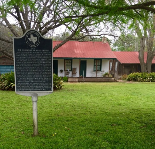 The original 1845 homestead of Castroville's founder, Henri Castro, is now a guest cottage.