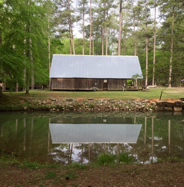 Historic cabin along the creek