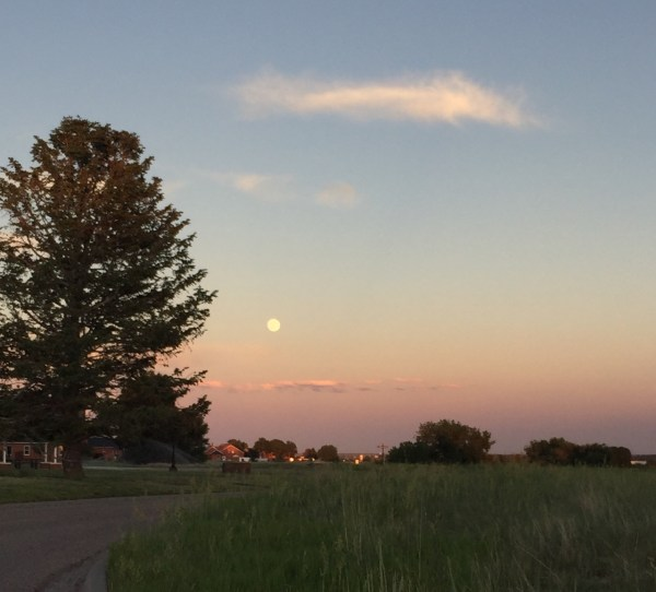 Full moon over Cheyenne