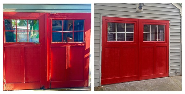 The carriage doors on our garage showed significant wood rot and sagging. Rebuilt them both!