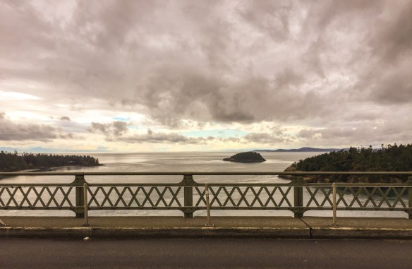 Deception Pass, looking west from the bridge...