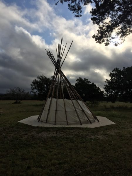 Funny Thing 2: Unexplained teepee in the park