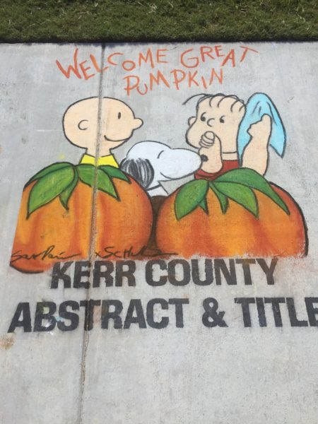 Funny Thing 4: We took in downtown Kerrville's 2nd annual Chalk Fest. Let's just say that Linus and Charlie Brown weren't the only two characters we saw.