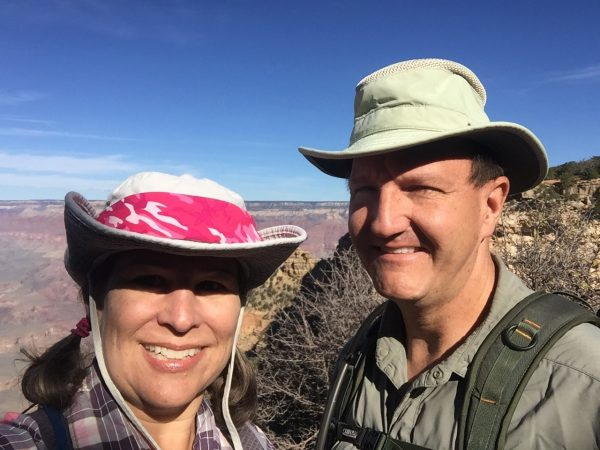 """We always look so happy and clean at the start of a hike. By the time we're finished, we're both filthy, soaking wet, stinky, and I'm crabby as hell because my body doesn't handle depletion well. You've heard of a mean drunk? Well I'm a mean hiker. When I growl, """"Stop talking to me,"""" Tim knows that's his cue to put about half a mile between us."""