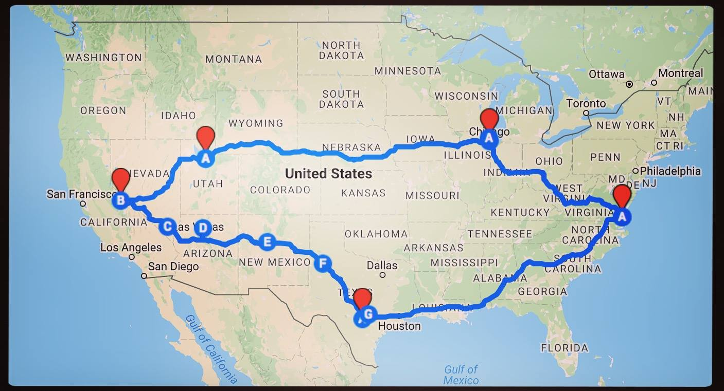 Own Less Do More - Us travel map for rv
